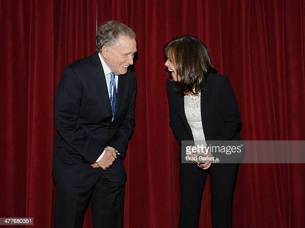 American television talk show host Dick Cavett and Sally Field attend The Lark Theater's 20th Anniversary Benefit Celebration at Lark Play...