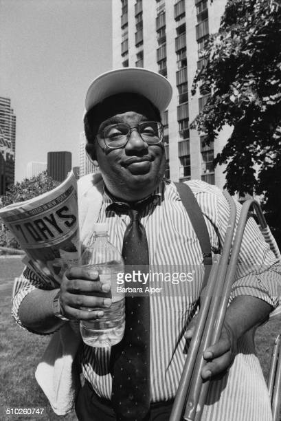 American television weatherman and writer Al Roker New York City 10th June 1988