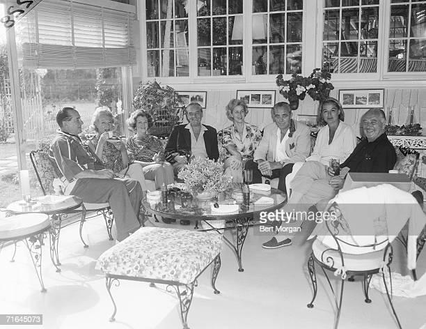 American tennis player and liquor importer Frank Hunter his third wife actress Lisette Verea Mrs Ben Finney Gordon Saar Charlotte Topping Woolworth...