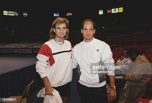 American tennis player Andre Agassi with his brother Phil at Madison Square Garden New York City 1992