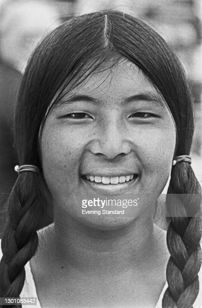 American tennis player Ann Kiyomura, UK, 13th June 1973. She won the Girls' Singles title at the 1973 Wimbledon Championships that year.