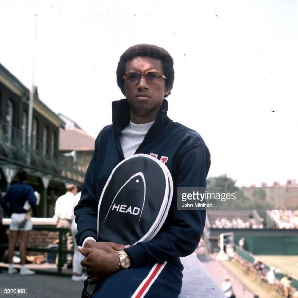 American tennis player Arthur Ashe at Queen's Club London