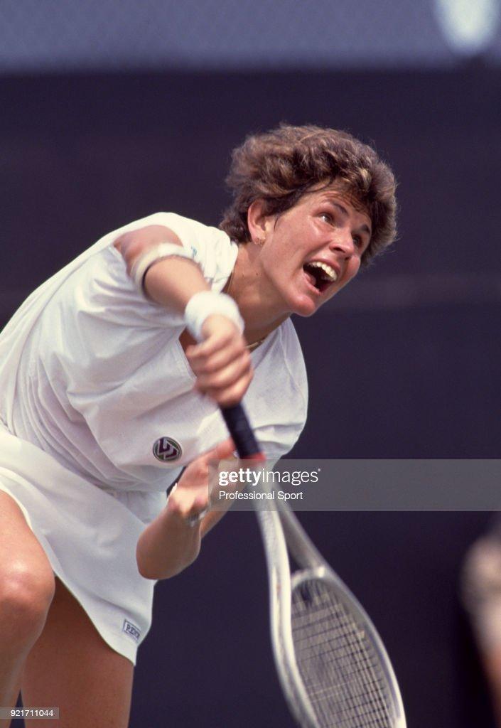 American tennis player Betsy Nagelsen, circa 1990.