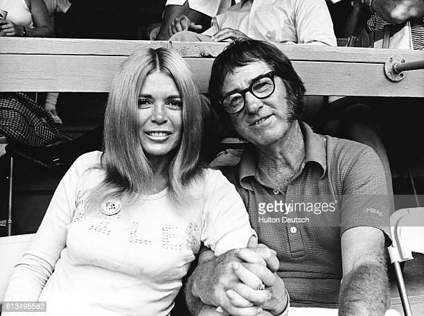 American tennis player Bobby Riggs with Sandra Giles