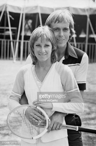 American tennis player Chris Evert with her husband British tennis player John Lloyd UK 19th May 1980