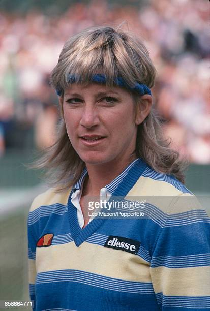 American tennis player Chris EvertLloyd pictured during competition in the BMW Championships tennis tournament at Devonshire Park Lawn Tennis Club in...