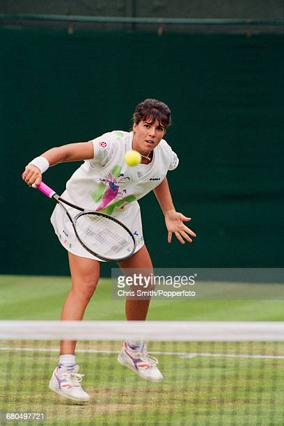 American tennis player Jennifer Capriati pictured in action to win against fellow American tennis player Pam Shriver 62 64 in the second round of the...