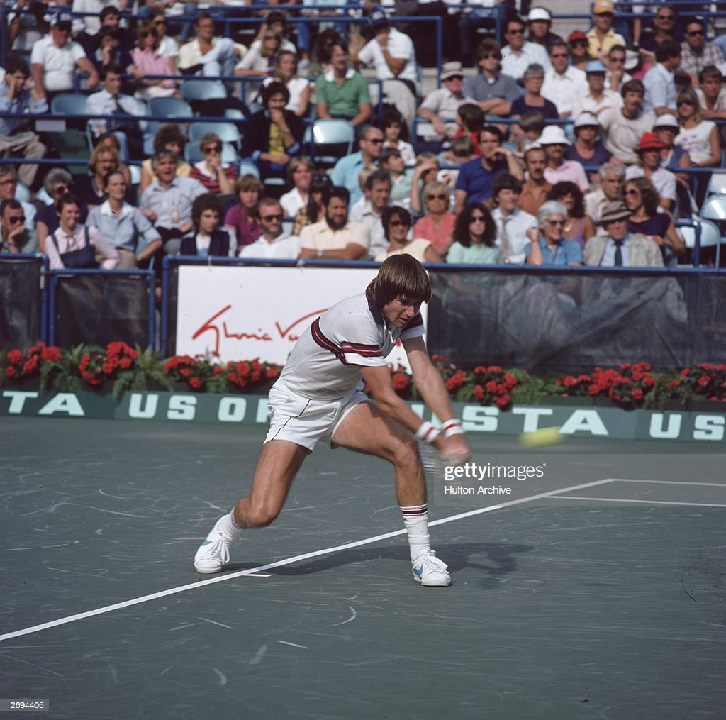 American tennis player Jimmy Connors in the semi-finals of the US Open at Flushing Meadows, New York.