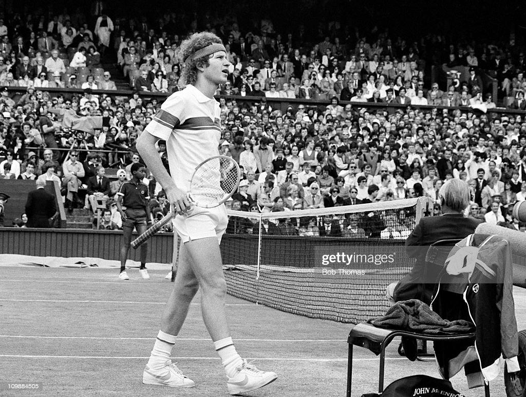 John McEnroe At 1981 Wimbledon Championships : News Photo