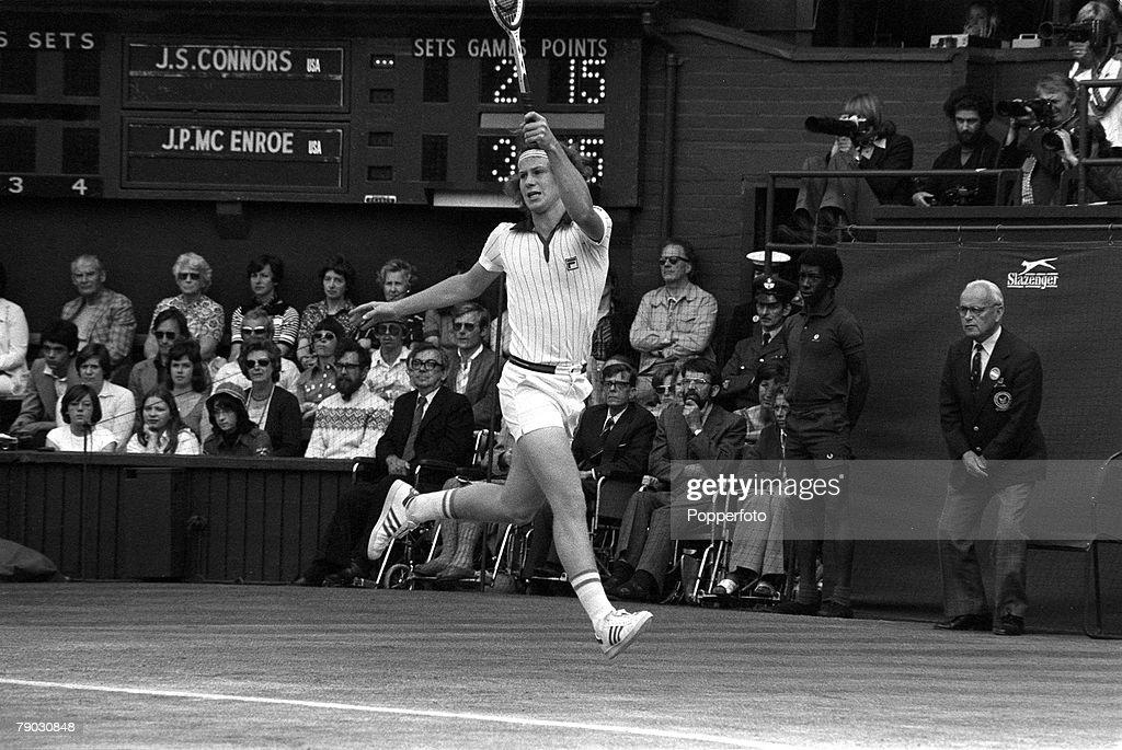 John McEnroe At 1977 Wimbledon Championships : News Photo