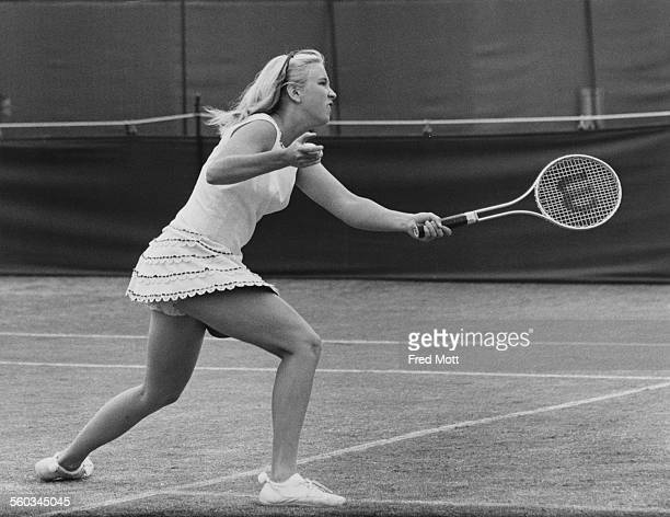 American tennis player Kristy Pigeon in action during the London Grass Court Championships at the Queen's Club in West Kensington London 18th June...