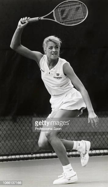 American tennis player Lisa Bonder in action circa November 1985