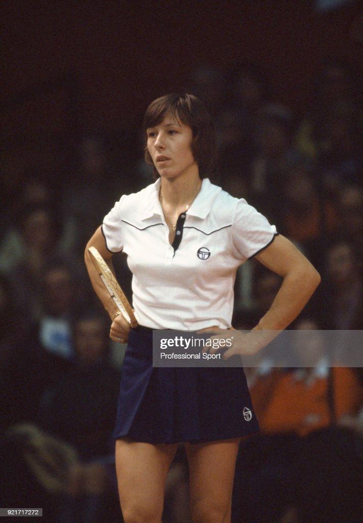 American tennis player Martina Navratilova, circa 1978.