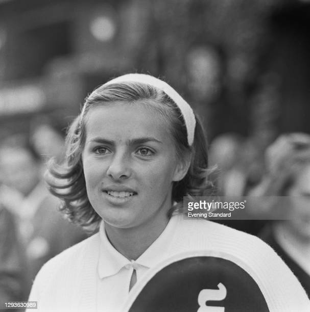 American tennis player Mary-Ann Eisel during the Wightman Cup in London, UK, June 1966.