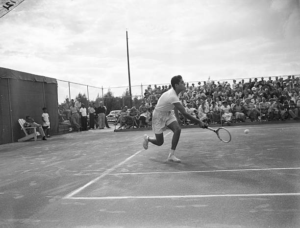 Pancho Gonzales On The Court