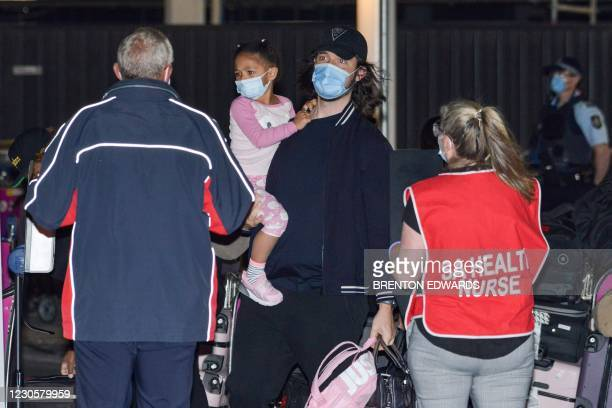 American tennis player Serena Williams' husband Alexis Ohanian and their daughter Alexis Olympia Ohanian Jr. Arrive before heading straight to...
