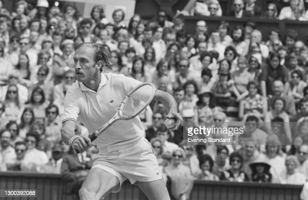 American tennis player Stan Smith during the 1972 Wimbledon Championships in London, UK, July 1972.