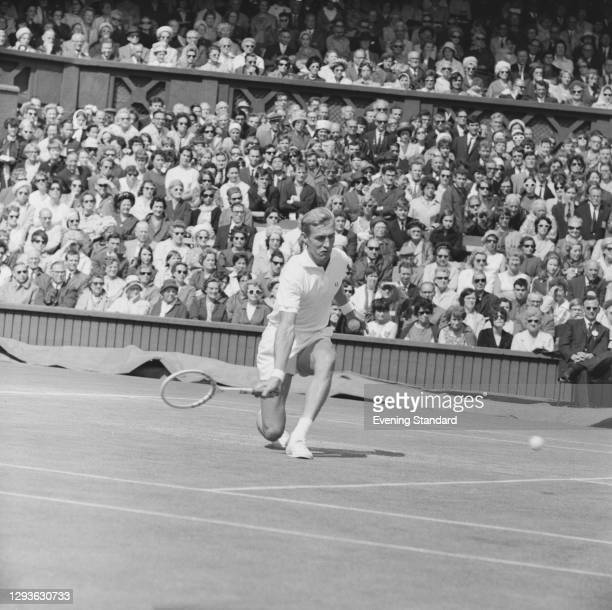 American tennis player Stan Smith during the Wimbledon championships in London, UK, June 1966.