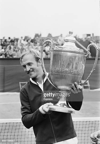 American tennis player Stan Smith wins the Queen's Club final in London after beating John Newcombe UK 19th June 1971