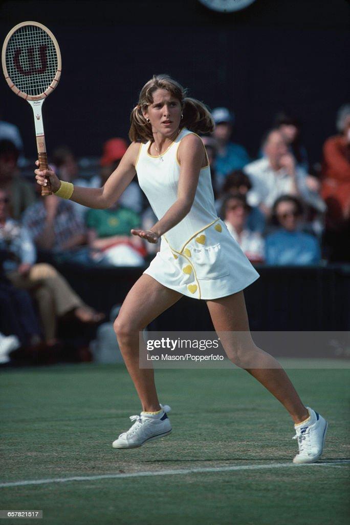 Tracy Austin At 1978 Wimbledon Championships : Nachrichtenfoto