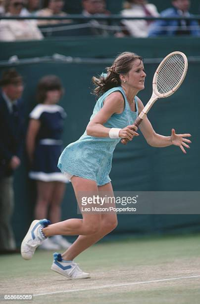 American tennis player Tracy Austin pictured in action competing to progress to reach and win the final of the 1981 BMW Championships Tennis...