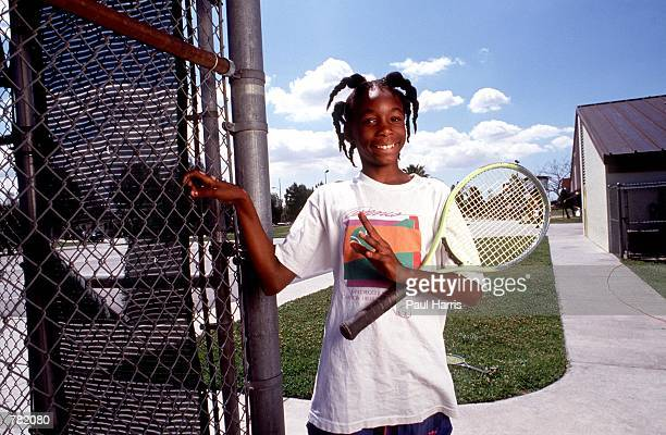 Tennis player Venus Williams poses for a photo 1991 in Compton CA Serena and Venus Williams will be playing against each other for the first time...
