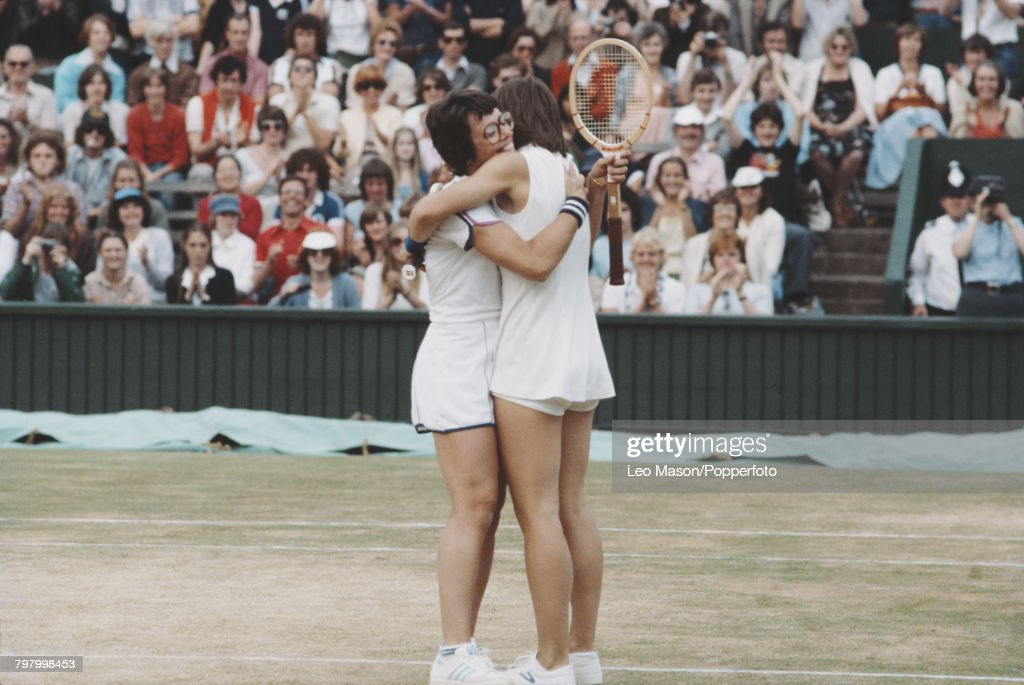 Billie Jean King At 1979 Wimbledon Championships : News Photo