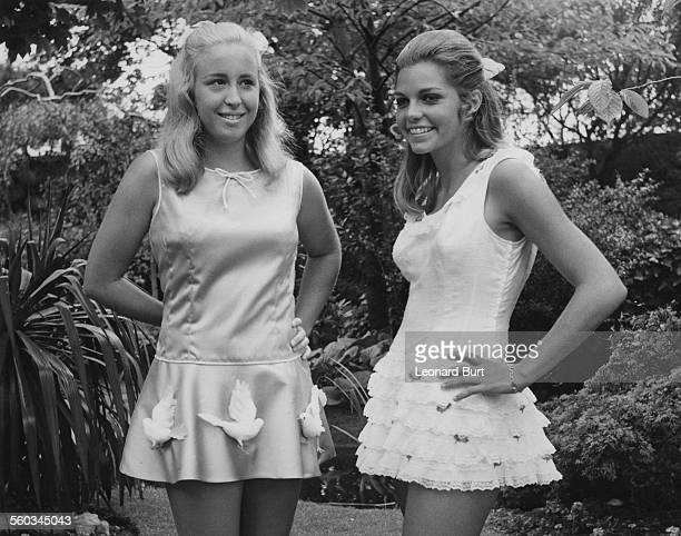American tennis players Kristy Pigeon and Betty Ann Grubb Stuart modelling sportswear during a preWimbledon preview of the Teddy Tinling collection...