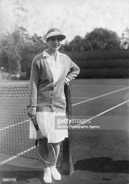 American tennis star Helen Wills at the Berlin Club Red And White where she was victorious in the GermanAmerican Tournament