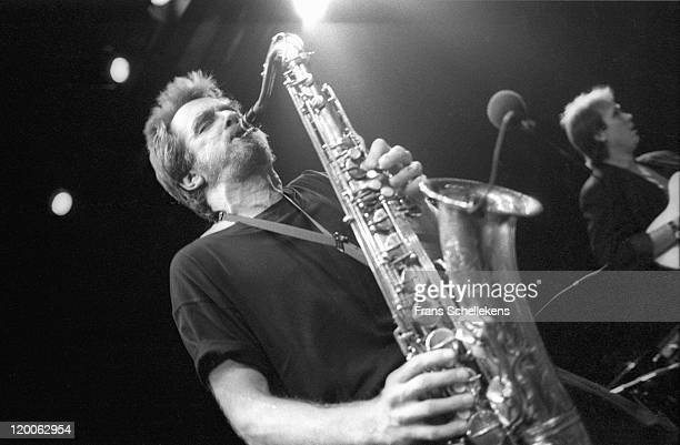 American tenor sax player Bennie Wallace performs live on stage at the NOS jazzfestival at de Meervaart in Amsterdam, Netherlands on 22nd August 1986.