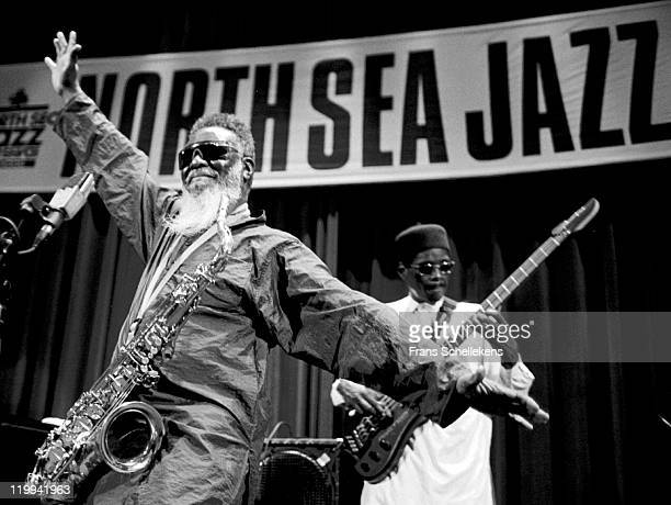 American tenor sax player Pharaoh Sanders performs live on stage at the North Sea Jazz festival in the Congresgebouw, The Hague, Netherlands on 15th...