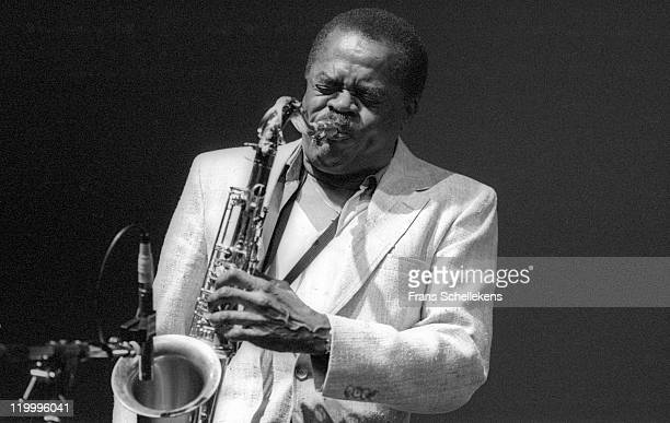 American tenor sax player Stanley Turrentine performs live on stage at the North Sea Jazz festival in the Congresgebouw, The Hague, Netherlands on...