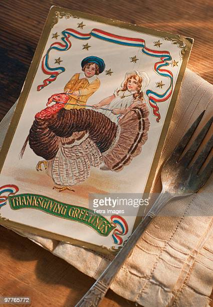 american thanksgiving card - happy thanksgiving card stock pictures, royalty-free photos & images