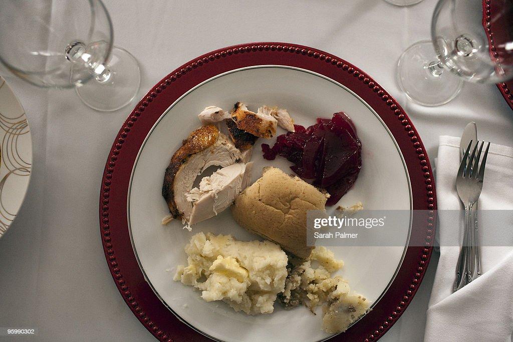 American thanksgiving dinner : Stock Photo