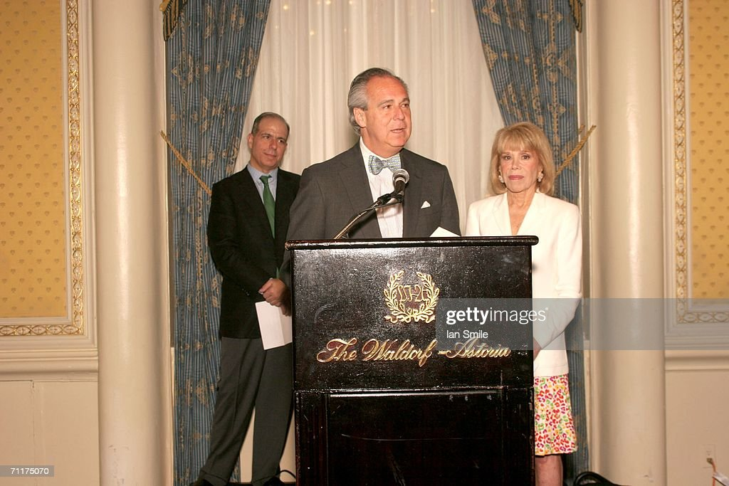 American Theater Wing President Douglas Leeds and Chairman Sondra Gilman present The Tonys Awards Honor Presenters And Nominees at Waldorf Astoria in New York on June 10, 2006 in New York.