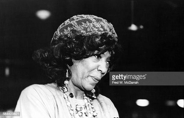 American theatre director Ellen Stewart of La MaMa ETC as she attends the Obie Awards New York New York May 19 1975