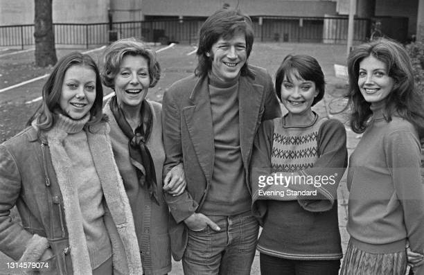 American theatre director Michael Rudman , the new artistic director at the Hampstead Theatre in London, pictured with actresses Jenny Agutter, Faith...