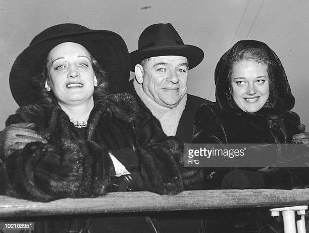 American theatrical producer Oscar Hammerstein II arrives in New York on the liner 'Mauretania' with his wife Dorothy and her daughter Susan...
