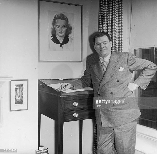 American theatrical producer Oscar Hammerstein II at his home circa 1945