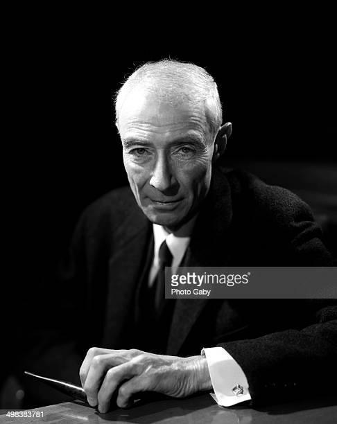 American theoretical physicist J Robert Oppenheimer New York 1965