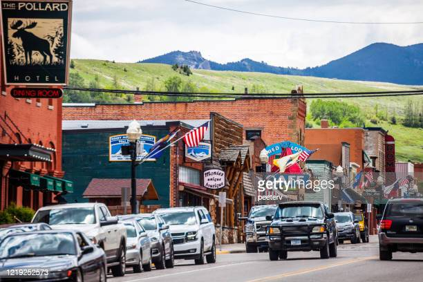 """american town - red lodge, montana - """"peeter viisimaa"""" or peeterv stock pictures, royalty-free photos & images"""