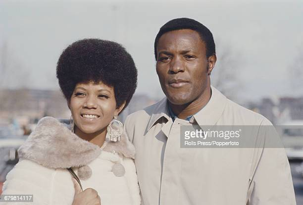 Wilma rudolph stock photos and pictures getty images american track and field athlete wilma rudolph pictured with fellow american decathlete and actor rafer johnson voltagebd Gallery