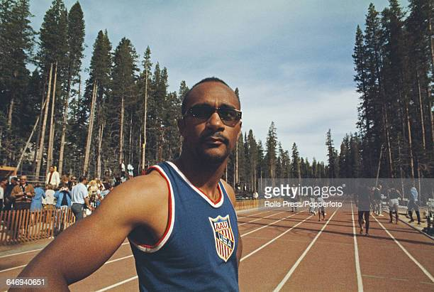 American track athlete Charles Greene pictured attending the United States Olympic Trials at Echo Summit in California in September 1968 Greene would...