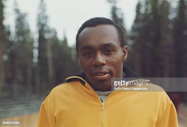 American track athlete Jim Hines pictured attending the United States Olympic Trials at Echo Summit in California in September 1968 Hines would go on...