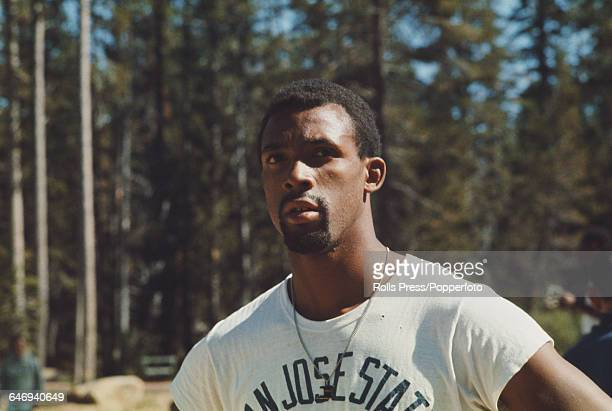 American track athlete John Carlos pictured attending the United States Olympic Trials at Echo Summit in California in September 1968 Carlos would go...