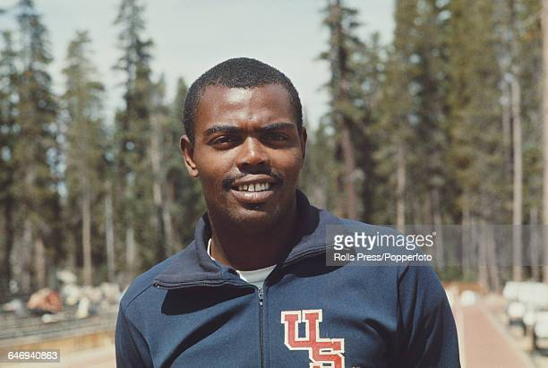 American track athlete Willie Davenport pictured attending the United States Olympic Trials at Echo Summit in California in September 1968 Davenport...