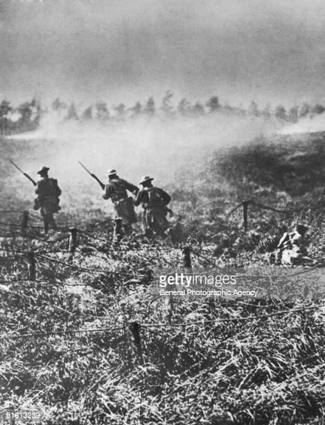 American troops attack a German position on the St Mihiel Salient France August 1918