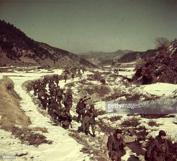 American troops in Korea.