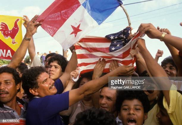 American troops invade Panama in a bid to oust dictator Manuel Noriega Panamanian people overwhelmingly support the invasion in December 1989 in...