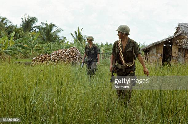 American troops operate in swamps and rivers south of Saigon Pick up Viet Cong suspects and question them A sniper takes one shot and everyone is on...